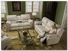 Southern Motion Living Room Double Reclining Loveseat