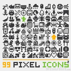 Illustration about Pixel art web icons vector pack. Illustration of icon, banana, computer - 59821543 Web Icon Vector, Pixel Characters, 8 Bit Art, Pixel Animation, Pixel Art Games, Pixel Image, Art Web, Pixel Pattern, Pictogram