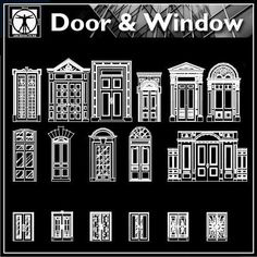 DWG files are compatible back to AutoCAD CAD drawings are availa Architecture Details, Modern Architecture, Drawing Architecture, Best Door Designs, Door And Window Design, Cad Library, Hospital Design, Cad Blocks, Cad Drawing