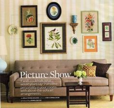 botanical print arrangement...the inspiration for my bedroom