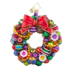 Christopher Radko Joyful Wreath Christmas Ornament >>> Check this awesome product by going to the link at the image. (This is an affiliate link) Radko Christmas Ornaments, Glass Ornaments, Christmas Diy, Christmas Wreaths, Xmas, Christmas Baubles, Christmas Stuff, Classic Christmas Decorations, Christopher Radko Ornaments