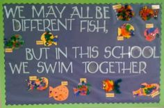 We may all be different fish but in school we swim together
