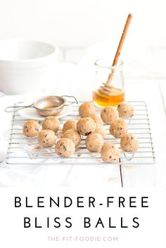 COOKIE DOUGH BLISS BALLS | Fructose, dairy, and sugar free. No blender required!