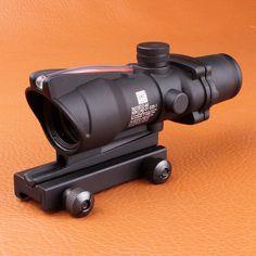 Trijicon ACOG 4X32 Fiber Source Red Illuminated Scope black color Tactical Hunting Riflescope 1