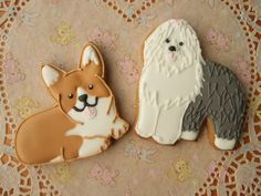 Corgi & English sheepdog cookies