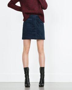 Image 2 of CORDUROY MINI SKIRT from Zara