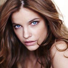 Perfect light brunette hair color for blue eyes!