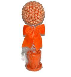 Large Lollipop Candy Topiary Orange by EdibleWeddings on Etsy, $44.99