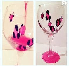 painted glasses diy - Google Search