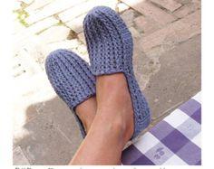 Plain Basic SC-Slippers Crochet Pattern by PdfPatternDesign
