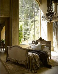 Would love a bedroom so big I can put the bed in the middle of the room.