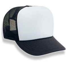 Crazy Perfect Deals - Black And White Mesh Trucker Cap $20.99