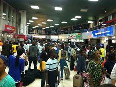 The terminal @ Murtala Muhammed International Airport felt like Oshodi Market @ high noon this evening. (Shots taken between 8pm & 10pm Jan 6th 2011)