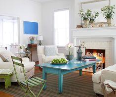 j'aime bien la table bleue