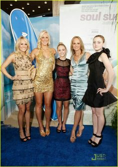 Soul Surfer cast with the real Soul Surfer herself Bethany Hamilton