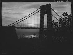 "The George Washington Bridge! ""The most beautiful bridge in the world."" -Le Corbusier, a French architect. (Image Library of Congress) #GeorgeWashingtonBridge #NewYorkCity #history #architecture"
