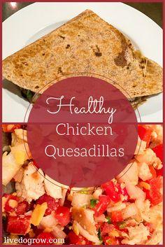 ... healthy recipes. Healthy Chicken Quesadillas from the Hilton Head
