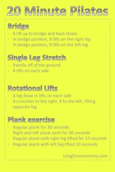 20 Minute Pilates for Beginners Health Diet, Health And Wellness, Health Fitness, Health Exercise, Fitness Goals, Yoga Fitness, Fitness Tips, Tone Up Workouts, Pilates Training