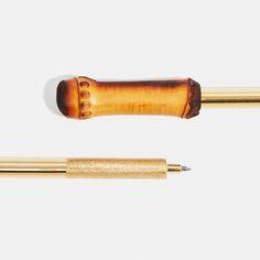 Brass & Cane roller ball pen designed by Lee West