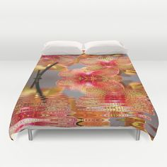 Orchid Reflections Duvet Cover by Judy Palkimas - $99.00
