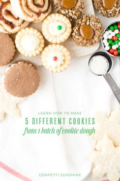 Make 5 different cookies out of 1 cookie recipe!