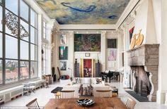 Huge living room in New York City.
