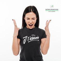 Ostie que j t écoeurée, t-shirt pour femme, imprimé au Québec, encre à base eau