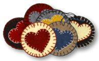 Felt pieces for penny rugs  lumenaris.com