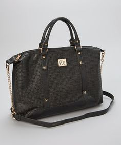Look what I found on #zulily! PiJu Black Olivia Vegan Leather Handbag by PiJu #zulilyfinds