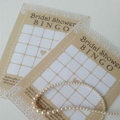 Printable Bridal Shower Game - Rustic Lace Design - by TheCraftPixie