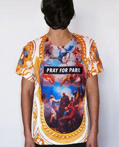 Pray for Paris 'Redemption' t-shirt (all over print) | Pray For Paris (£48.00) - Svpply