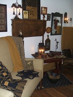 Settle & Other Treasures by cottagehouseprimitives, via Flickr
