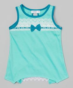 Love this Mint Lace Bow Tank - Girls by Mini Moca on Katies Fashion, Lace Bows, Tank Girl, Girly Girl, Little Girls, Athletic Tank Tops, Girl Fashion, That Look, Girl Outfits