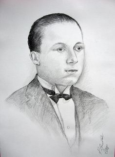 Men's portrait,pencil by Kamila Guzal-Pośrednik