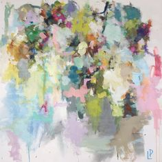 Laura Park - Abstract Floral Painting - Gregg Irby Gallery