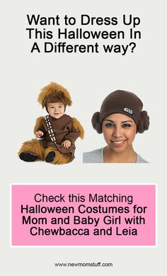 Want to dress up this Halloween in a different way? Check this Matching Halloween Costumes For Mom and Baby Girl with Chewbacca and Leia. matching_halloween_costumes_for_mom_and_baby_girl Matching Halloween Costumes, Mom Costumes, Baby Halloween, Pregnancy Stages, Pregnancy Tips, Chewbacca, Newborn Schedule, Baby Care Tips, Baby Development