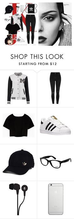 """Bez naslova #5"" by sejlabrkic ❤ liked on Polyvore featuring River Island, Max&Co., adidas, Ray-Ban, Skullcandy, Native Union and adidas Originals"