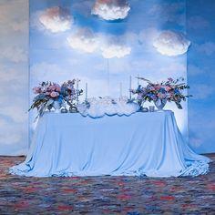 Облачной свадьбе - облачный фон с мягкими и воздушными облачками... Свадьба О'Блоков, Леши и Инны, 02.09.16, организатор @kornienko_wedding, фото @katyabosova #семицветикдекор #декор #цветы #свадьба #облака #небо #wedding #decor #flowers #inspiration #weddinginspiration #sky #weddingsky