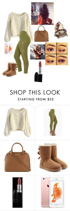 """Untitled #1437"" by jadahawkins ❤ liked on Polyvore featuring Chicwish, MICHAEL Michael Kors, UGG Australia, MAC Cosmetics, women's clothing, women, female, woman, misses and juniors"