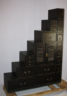Stair Step Bookcase step tansu. | decorating ideas. | pinterest