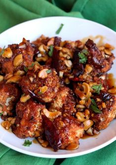 Baked Kung Pao Chicken   Food Recipes