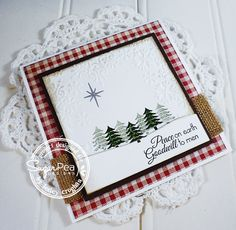 Lesley Croghan: Always Playing with Paper – (Home of The Challenge – Merry Monday #139 {Peace on Earth} - 12/15/14  (SugarPea Desgins: Lost Without You-sentiment; Sweet Treats-trees)