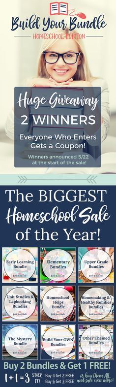 Every year I look forward to the Build Your Bundle for some of our homeschooling resources - this year they have a Giveaway!
