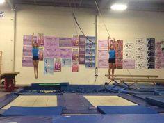 Gymnastics on a Trampoline Trampoline Sport, Gymnastics Trampoline, Amazing Gymnastics, Sports Equipment, Photo Wall, Decor, Photograph, Decoration, Decorating