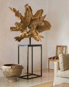 Giant Balinese Root Sculpture on Stand is part of Creative furniture Painting Tips - A magnificent and giant Balinese root on stand Driftwood Sculpture, Driftwood Art, Sculpture Stand, Sculptures, Driftwood Projects, Creation Deco, Wood Design, Wood Wall Art, Home Decor