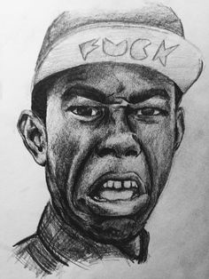 pencil drawing of my ultimate fave tyler the creator