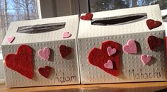 Kleenex hand towel boxes for mailbox on Valentine's day!