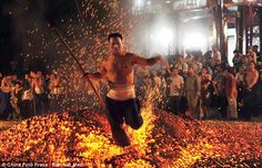 Walking on fire (China)