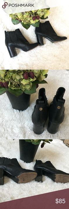 020993efa30a Tory burch Margaux booties Very very used condition ! Still lot of life  left side marks all over needs to be taken in for treatment Tory Burch Shoes
