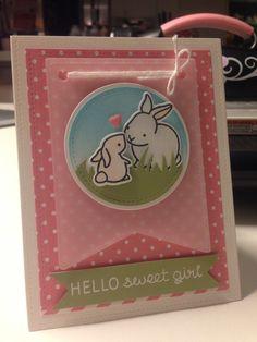 Lawn Fawn Hello Baby Stampset Mon Ami Polka Dot Paper